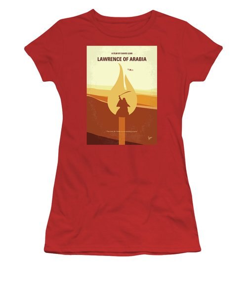Women's T-Shirt (Junior Cut) featuring the digital art No772 My Lawrence Of Arabia Minimal Movie Poster by Chungkong Art