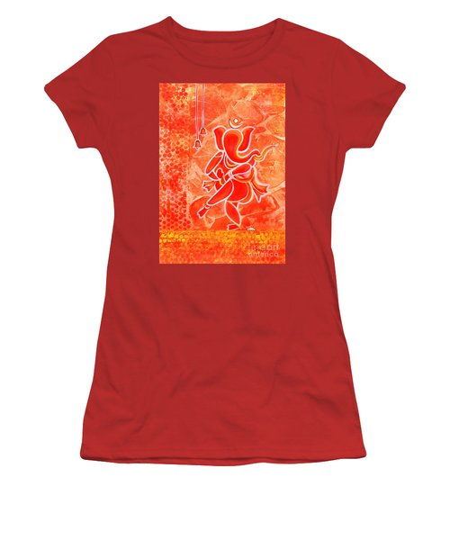 Nritya Ganesha- Dancing God Women's T-Shirt (Athletic Fit)