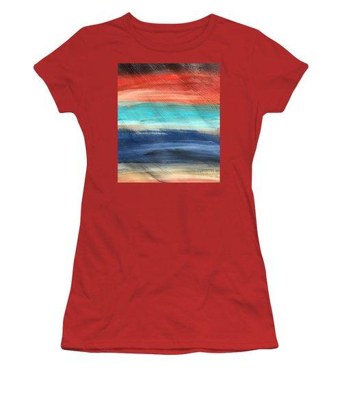 Oak Creek #27 Southwest Landscape Original Fine Art Acrylic On Canvas Women's T-Shirt (Athletic Fit)