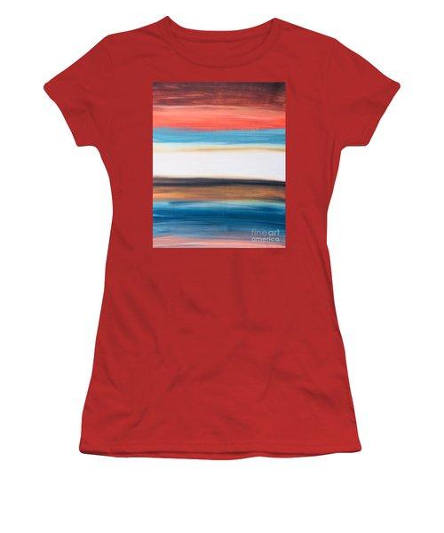 Oak Creek #29 Southwest Landscape Original Fine Art Acrylic On Canvas Women's T-Shirt (Athletic Fit)