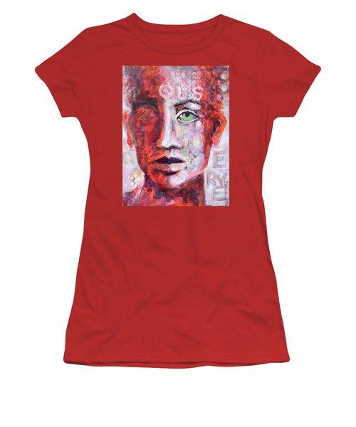 Observe Women's T-Shirt (Junior Cut) by Mary Schiros