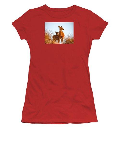 Ocean Deer Women's T-Shirt (Junior Cut) by  Newwwman