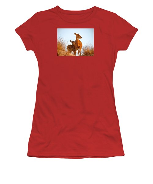 Ocean Deer Women's T-Shirt (Athletic Fit)
