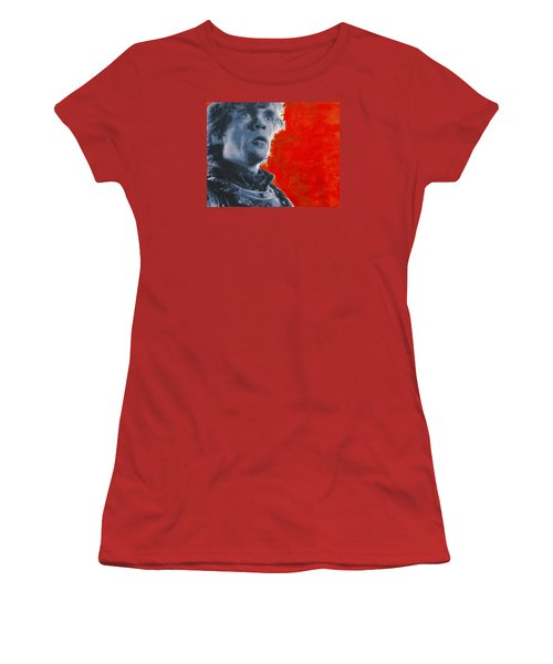 Women's T-Shirt (Junior Cut) featuring the painting Tyrion Lannister by Luis Ludzska