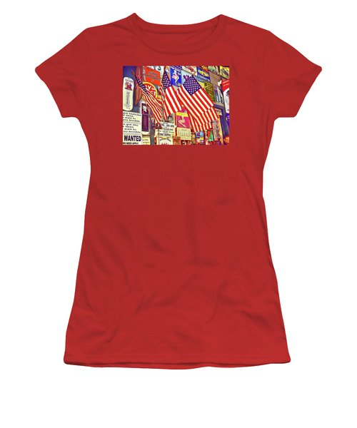 Women's T-Shirt (Junior Cut) featuring the photograph Old Glory by Joan Reese