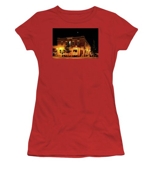 Old Hotel Moonlight Women's T-Shirt (Junior Cut) by Dale R Carlson