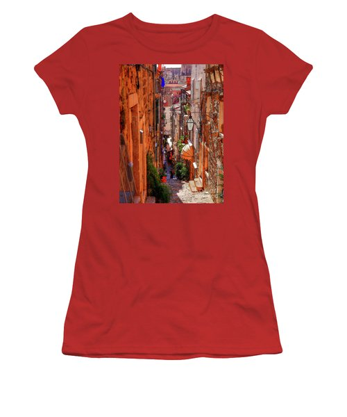 Old Town Dubrovniks Inner Passages Women's T-Shirt (Athletic Fit)
