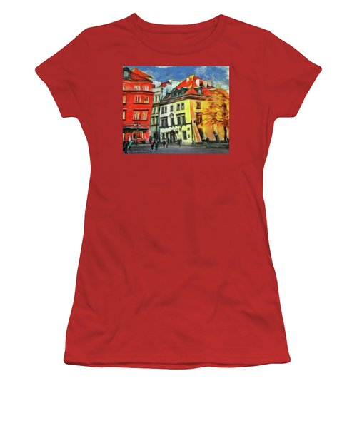 Old Town In Warsaw # 27 Women's T-Shirt (Athletic Fit)