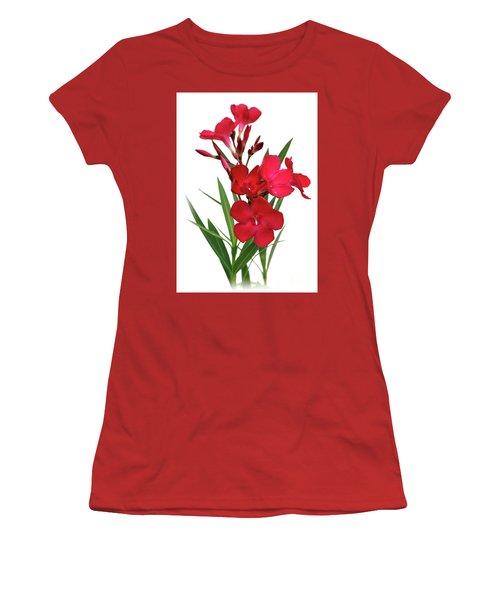 Oleander Emile Sahut 2 Women's T-Shirt (Junior Cut) by Wilhelm Hufnagl