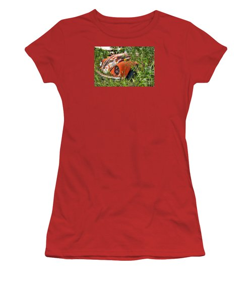 Women's T-Shirt (Junior Cut) featuring the photograph One Eyed Bug by Lawrence Burry