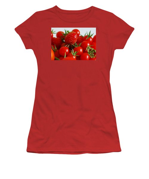One Of These Things Is Not Like The Other Women's T-Shirt (Junior Cut) by Lisa Phillips