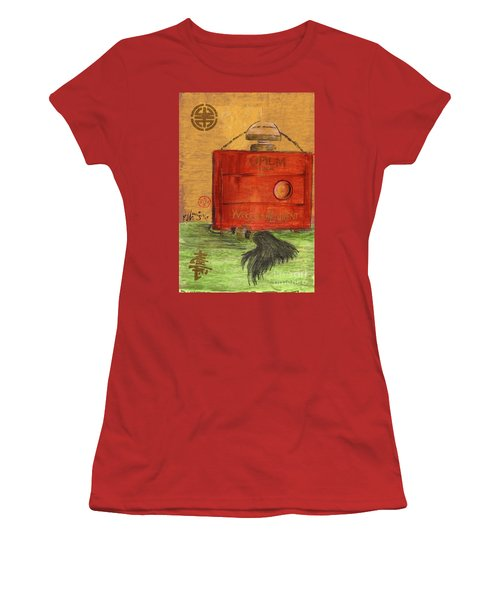 Women's T-Shirt (Junior Cut) featuring the painting Opium by P J Lewis