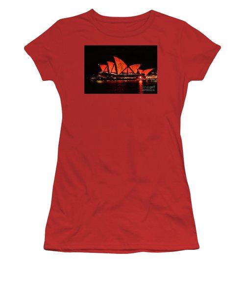 Orange Blast Women's T-Shirt (Junior Cut) by Diana Mary Sharpton