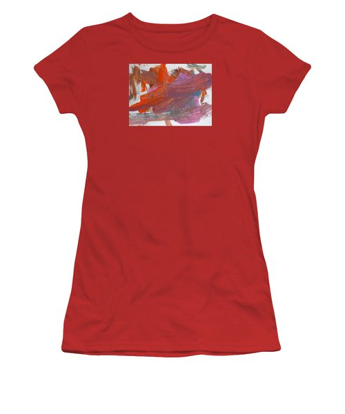 Women's T-Shirt (Junior Cut) featuring the painting Orange By Emma by Fred Wilson