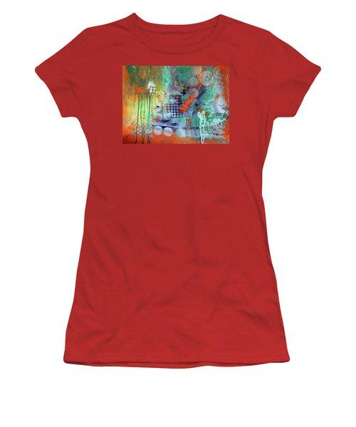 Orange Optimist Women's T-Shirt (Junior Cut) by Everette McMahan jr