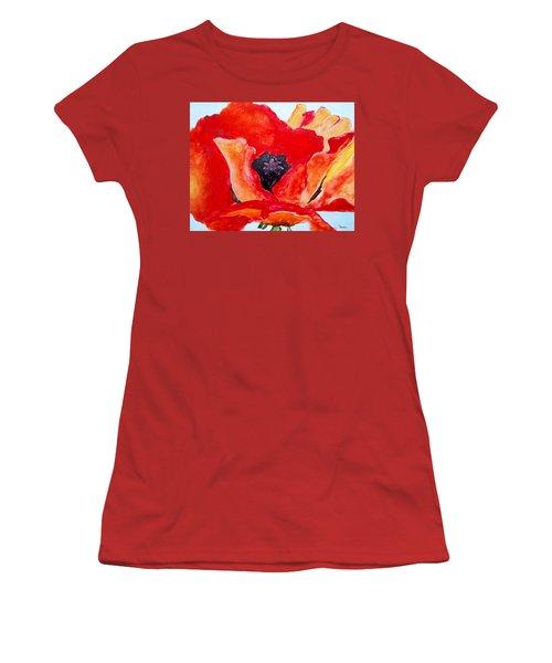 Orange Poppy Women's T-Shirt (Junior Cut) by Jamie Frier