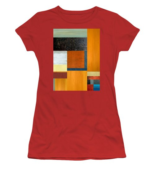 Women's T-Shirt (Junior Cut) featuring the painting Orange Study With Compliments 2.0 by Michelle Calkins