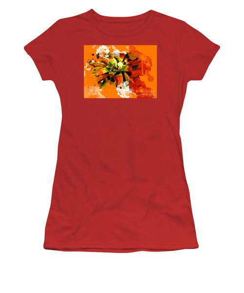 Orange Tropic Women's T-Shirt (Athletic Fit)