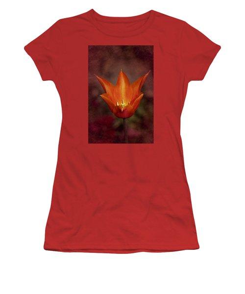 Orange Tulip Women's T-Shirt (Junior Cut) by Richard Cummings