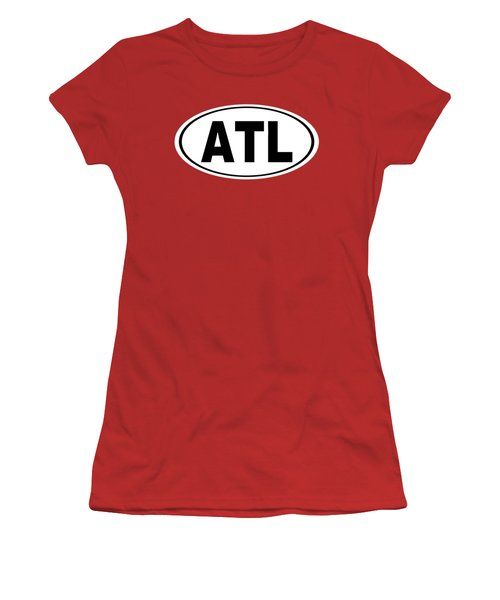 Women's T-Shirt (Junior Cut) featuring the photograph Oval Atl Atlanta Georgia Home Pride by Keith Webber Jr