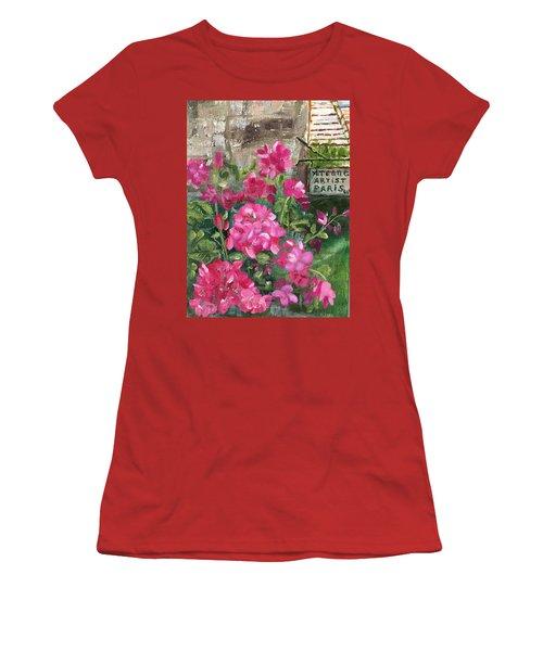 Paris, Wisconsin Women's T-Shirt (Junior Cut) by Sharon Schultz