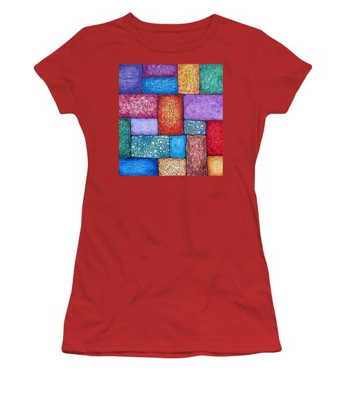 Women's T-Shirt (Junior Cut) featuring the drawing Patchwork by Megan Walsh