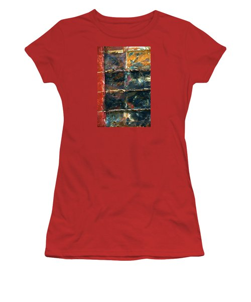 Patchworks 4 Women's T-Shirt (Junior Cut) by Newel Hunter