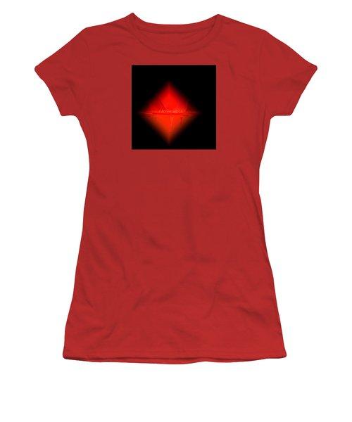 Women's T-Shirt (Junior Cut) featuring the painting Penman Original - Pillow Talk by Andrew Penman