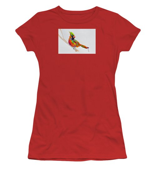 Perch With Pride Women's T-Shirt (Junior Cut) by Beverley Harper Tinsley