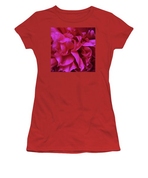 Perfectly Pink Peony Petals Women's T-Shirt (Athletic Fit)