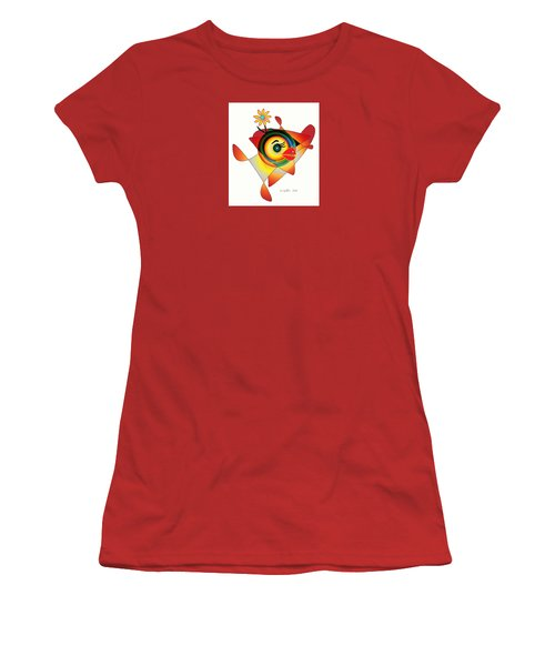 Petunia Parrot Women's T-Shirt (Athletic Fit)