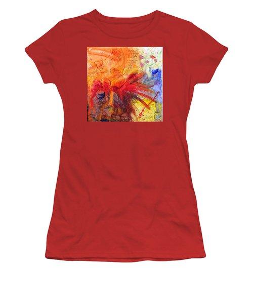 Phoenix Hummingbird Women's T-Shirt (Junior Cut) by Phil Strang