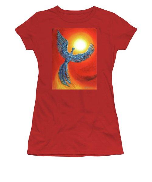 Phoenix Rising Women's T-Shirt (Junior Cut) by Laura Iverson