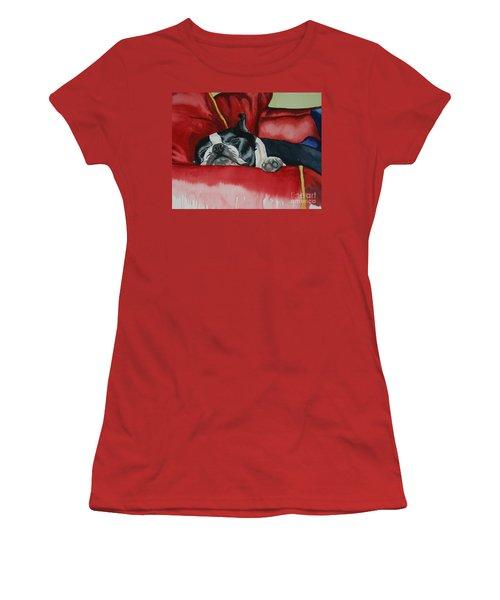 Pillow Pup Women's T-Shirt (Athletic Fit)