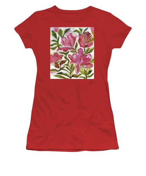 Pink Azaleas Women's T-Shirt (Junior Cut) by Julie Maas