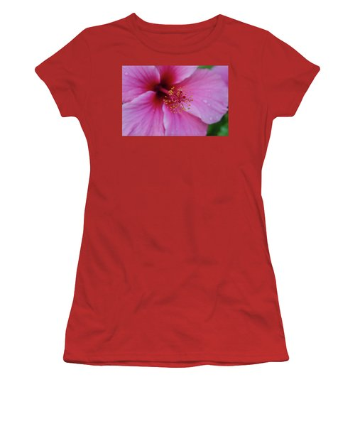 Pink Flower II Women's T-Shirt (Athletic Fit)