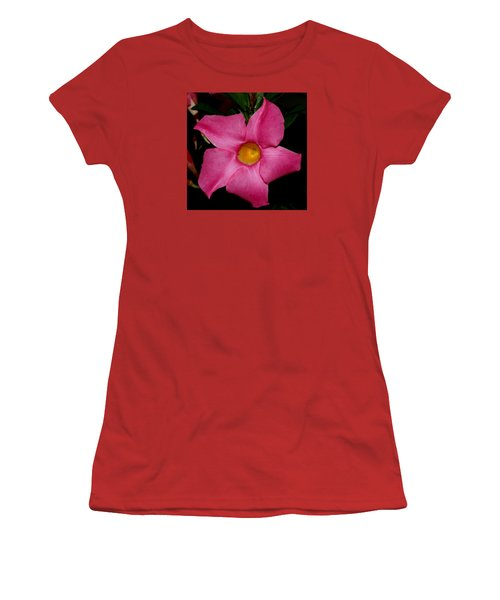 Pink Mandevilla Women's T-Shirt (Athletic Fit)