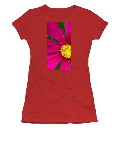 Plink Flower Closeup Women's T-Shirt (Junior Cut) by Michael Bessler