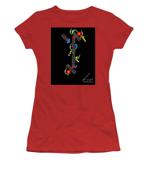 Polka Dot Dragon Women's T-Shirt (Athletic Fit)