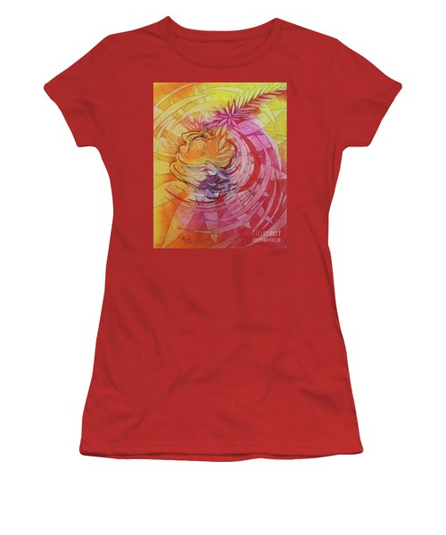Women's T-Shirt (Junior Cut) featuring the drawing Polynesian Warrior by Marat Essex