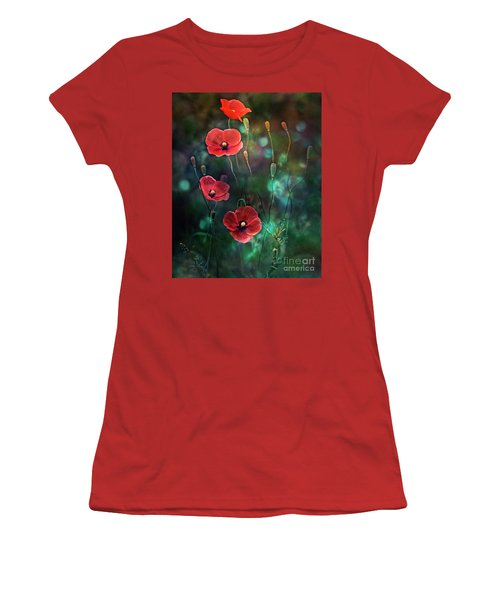 Poppies Fairytale Women's T-Shirt (Athletic Fit)