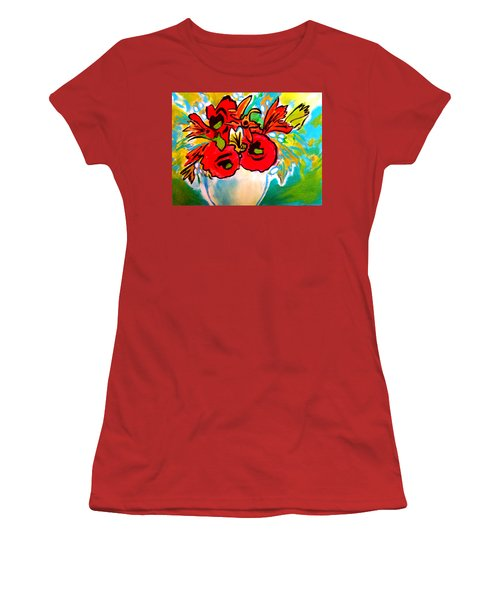 Poppy Bouquet Reworked Women's T-Shirt (Athletic Fit)