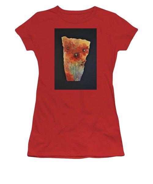 Poppy Impressions Women's T-Shirt (Junior Cut) by Kathleen Pio