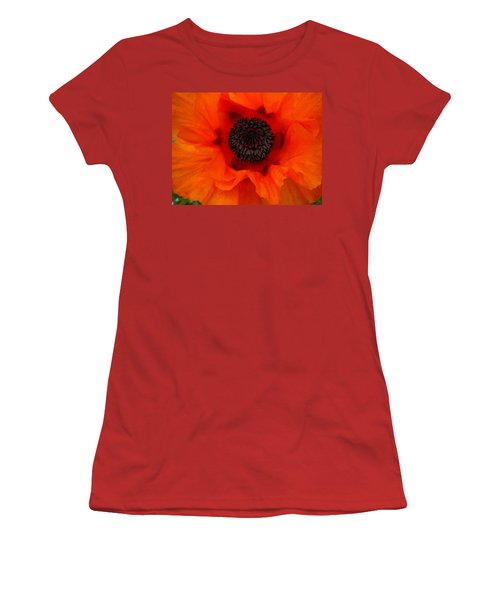 Women's T-Shirt (Junior Cut) featuring the painting Poppy by Renate Nadi Wesley