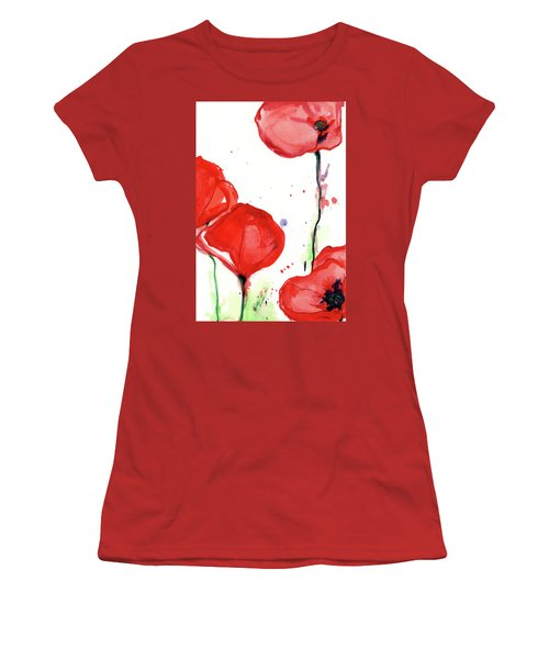 Poppyred Women's T-Shirt (Athletic Fit)