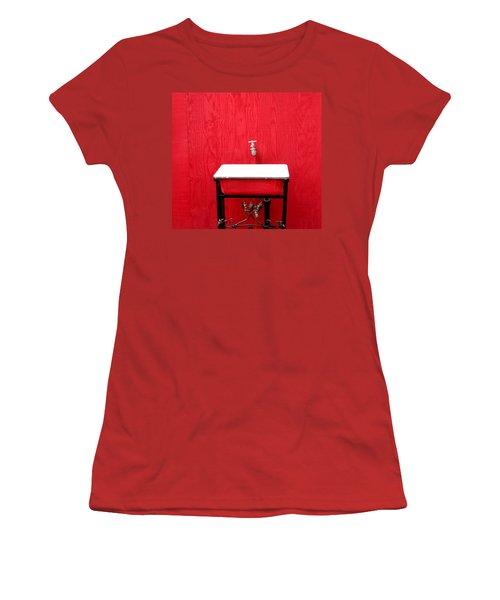 Women's T-Shirt (Junior Cut) featuring the photograph Portal Flow by Marie Neder