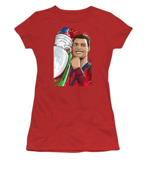 Portugal Campeoes Da Europa Women's T-Shirt (Junior Cut) by Akyanyme