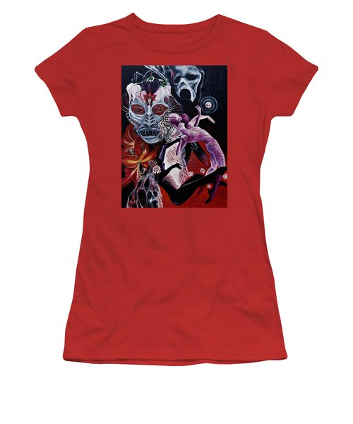 Postcard From Death Women's T-Shirt (Junior Cut) by Yelena Tylkina