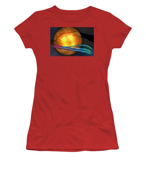 Power Of Touch Women's T-Shirt (Junior Cut) by Ed Hall