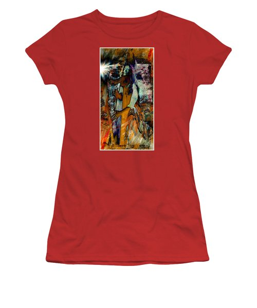 Praise Him With The Harp IIi Women's T-Shirt (Athletic Fit)